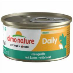 Pâtée pour chat Almo Nature Daily Menu - lot 6 boîtes 85 g Mousse avec agneau