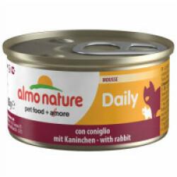 Pâtée pour chat Almo Nature Daily Menu - lot 6 boîtes 85 g Mousse avec lapin