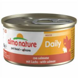 Pâtée pour chat Almo Nature Daily Menu - lot 6 boîtes 85 g Mousse avec saumon