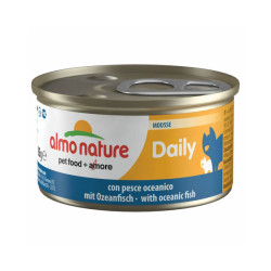 Pâtée pour chat Almo Nature Daily Menu - lot 6 boîtes 85 g Mousse avec poisson de l'océan
