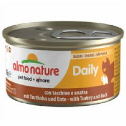 Pâtée pour chat Almo Nature Daily Menu - lot 6 boîtes 85 g Morceaux dinde et canard