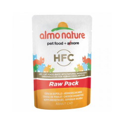 Pâtée pour chat Almo Nature HFC Raw Pack - Lot de 6 pochons 55 g