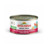 Pâtée pour chat Almo Nature HFC Natural - Lot de 6 x 70 g Poulet avec Fromage
