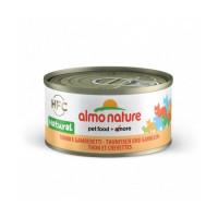 Pâtée pour chat Almo Nature HFC Natural - Lot de 6 x 70 g Thon et Crevettes