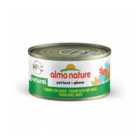 Pâtée pour chat Almo Nature HFC Natural - Lot de 6 x 70 g Thon avec maïs