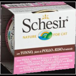 Pâtée pour chat Schesir Natural avec riz - Boîte 85 g