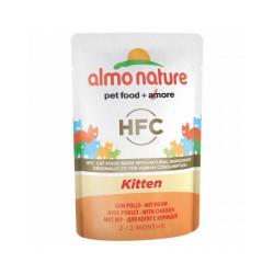 Pâtée pour chaton Almo Nature HFC Kitten - Lot de 6 pochons 55 g Poulet