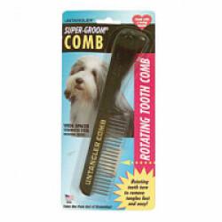 Peigne démêloir Untangler chien et chat avec manche 75 x 30 mm 20 dents