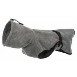 Peignoir de bain éponge gris pour chien Taille XS 30 cm