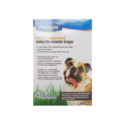 Boite de 24 sachets Petmate (non compostable) pour pelle ramasse crottes Clean Restponse 2
