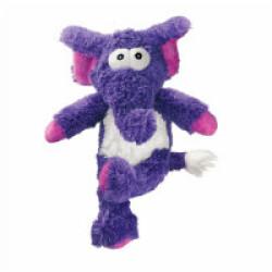 Peluche éléphant à couinement avec corde pour chien KONG Cross Knots M/L 30 cm