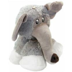 Peluche éléphant à couinement pour chien KONG Stretchezz Legz Medium 23 cm