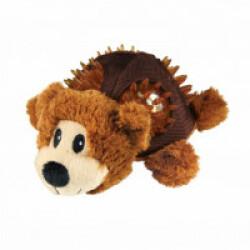 Peluche ours avec sifflet pour chien KONG Shells Small 12,5 cm
