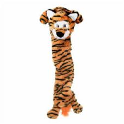 Peluche tigre à couinement pour chien KONG Stretcheez Jumbo XL 70 cm