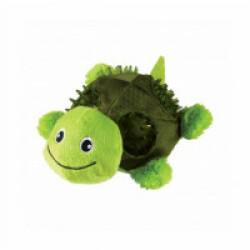 Peluche tortue avec sifflet KONG Shells pour chien - Small 12,5 cm