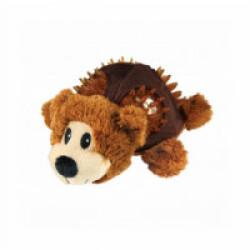 Peluche ours avec sifflet KONG Shells pour chien - Small 12,5 cm