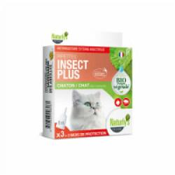 Soin antiparasitaire naturel pour chats 3 pipettes de 1 ml Naturlys
