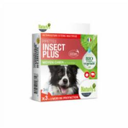 Pipettes Naturalys antiparasitaires pour chiens de 15 à 30 kg (3 pipettes de 3 ml) Insect Plus
