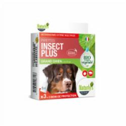 Pipettes Naturalys antiparasitaires pour chiens de plus de 30 kg (3 pipettes de 5 ml) Insect Plus