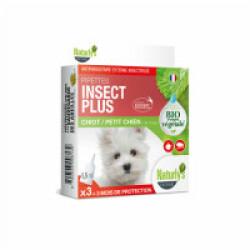 Pipettes Naturalys antiparasitaires pour petits chiens et chiots (3 pipettes de 1.5 ml) Insect Plus
