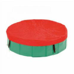 Bâche de protection rouge diamètre 160 cm pour piscine Doggy Pool