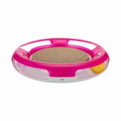 Plateau de jeu Race & Scratch avec balle et griffoir pour chat Trixie