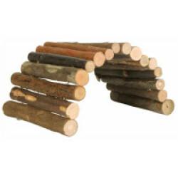 Pont flexible pour rongeurs en bois d'écorce - 22 × 10 cm