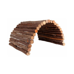 Pont flexible pour rongeurs en bois d'écorce - 65 × 40 cm