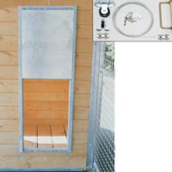 Porte guillotine pour niche chenil ou poulailler Montage en Applique