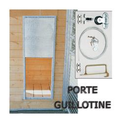 """Porte guillotine pour passage chenil chatterie montage en """"Sandwich"""""""