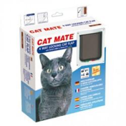 Chatière blanche Cat Mate 235 standard pour chat