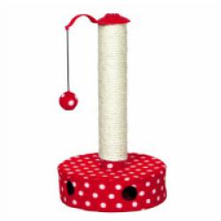Poteau de jeu en sisal naturel rouge et blanc Trixie