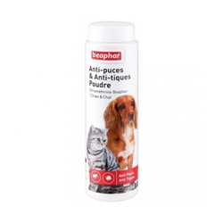 Poudre antipuces et anti-tiques Beaphar pour chien et chat