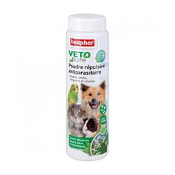 Poudre répulsive antiparasitaire Vetopure Beaphar 60 g chiens, chats, rongeurs et oiseaux