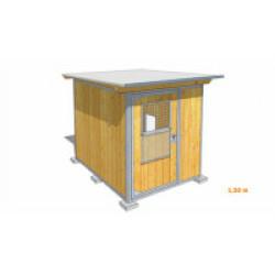 Poulailler durable en bois et métal avec 1 box XSmall - 1,50 x 2 m