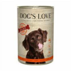 Pâtée barf Dog's Love 100% viande pour chien - Boîte 400 g au boeuf