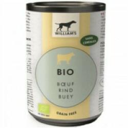 Pâtée Bio sans céréales William's pour chien - Saveur Boeuf (boîte de 200g)