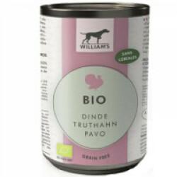 Pâtée Bio sans céréales William's pour chien - Saveur Dinde (boîte de 200g)
