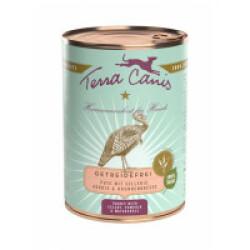 Pâtée naturelle sans céréales pour chien à la dinde Terra Canis Boîte 400 g