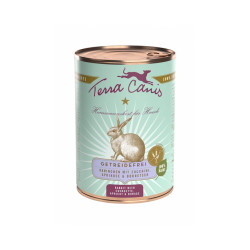 Pâtée naturelle sans céréales pour chien au lapin Terra Canis Boîte 400 g