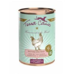 Pâtée naturelle sans céréales pour chien au poulet Terra Canis Boîte 400 g