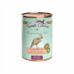 Pâtée naturelle sans céréales Terra Canis pour chien à la Dinde - Boîte 400 g