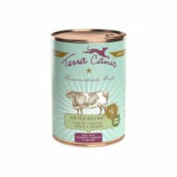 Pâtée naturelle sans céréales Terra Canis pour chien au boeuf - Boîte 400 g