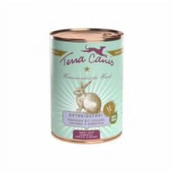 Pâtée naturelle sans céréales Terra Canis pour chien au Lapin - Boîte 400 g
