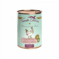 Pâtée naturelle sans céréales Terra Canis pour chien au Poulet - Boîte 400 g