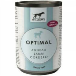Pâtée Optimal Agneau sans céréales William's pour chien - Boîte de 200g
