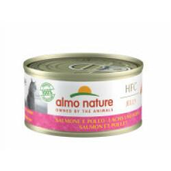 Pâtée pour chat Almo Nature HFC Jelly - Lot de 6 x 70 g Saumon et Poulet