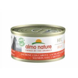 Pâtée pour chat Almo Nature HFC Jelly - Lot de 6 x 70 g Saumon avec carotte