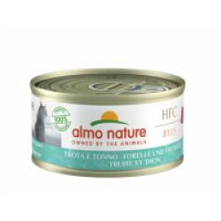 Pâtée pour chat Almo Nature HFC Jelly - Lot de 6 x 70 g Truite et thon