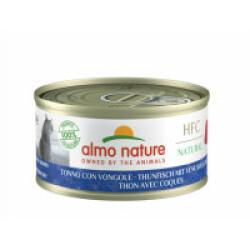 Pâtée pour chat Almo Nature HFC Natural - Lot de 6 x 70 g Thon avec coques et palourdes
